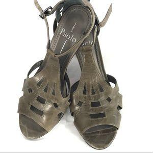 LINEA PAOLO heels sandal peep toe strap 6.5 M